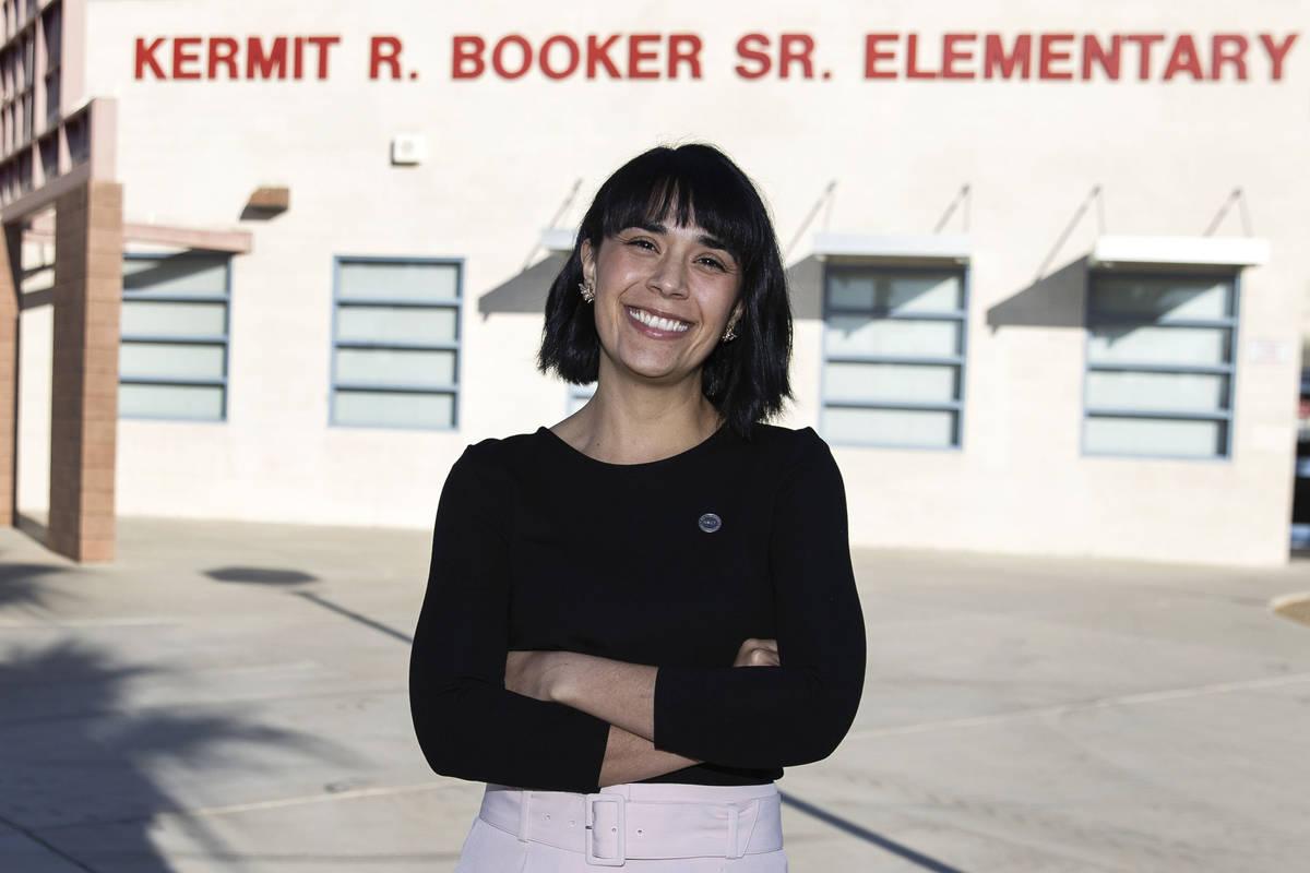 Juliana Urtubey, a learning strategist, at Booker Sr. Innovative Elementary School on Nov. 13, ...