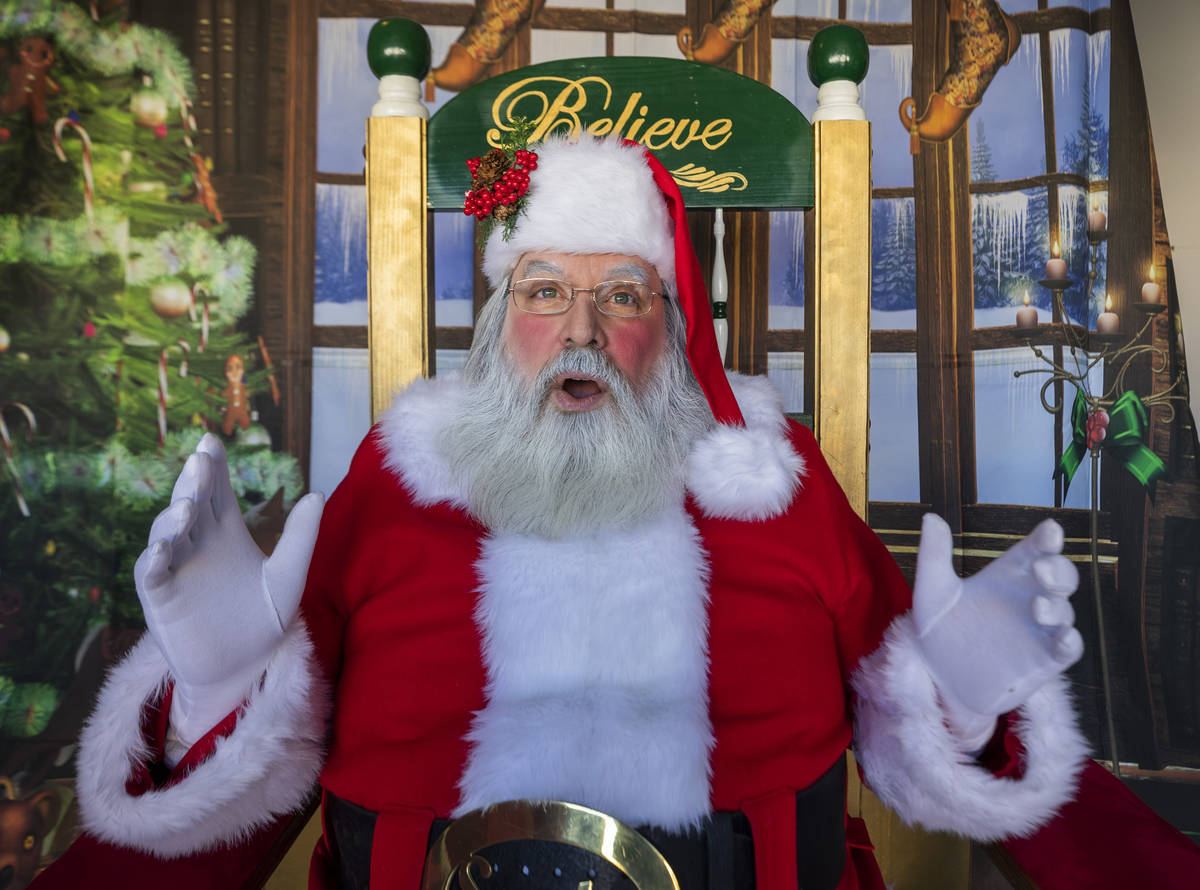 """Chris Groeschke, 64, as """"Santa Kris Kringle"""" is photographed at Groeschke's home on Tuesday, No ..."""