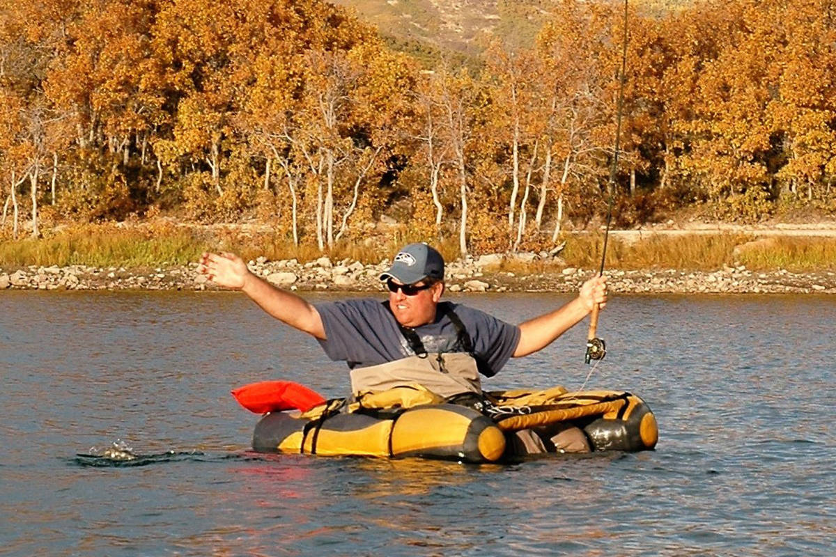 Trevis Lee of Henderson enjoys fly-fishing for trout on a cool fall day in the high country. Th ...