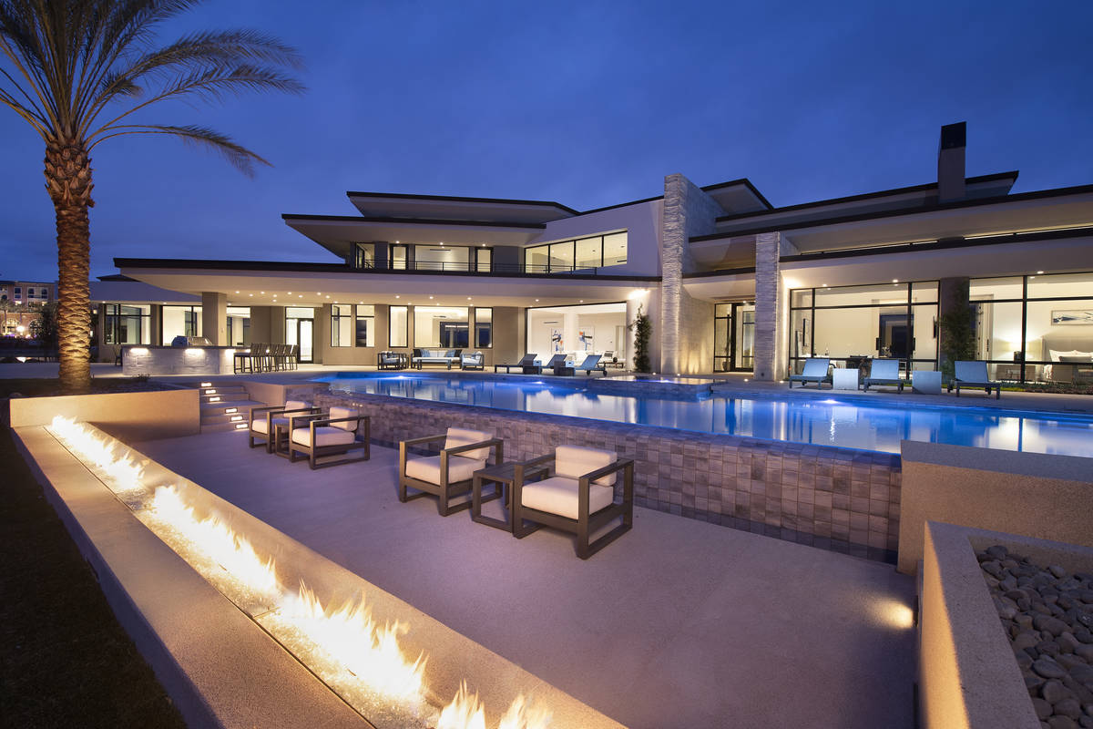 An 8,838-square-foot home at 23 Summer House Drive in Henderson's Lake Las Vegas community rece ...