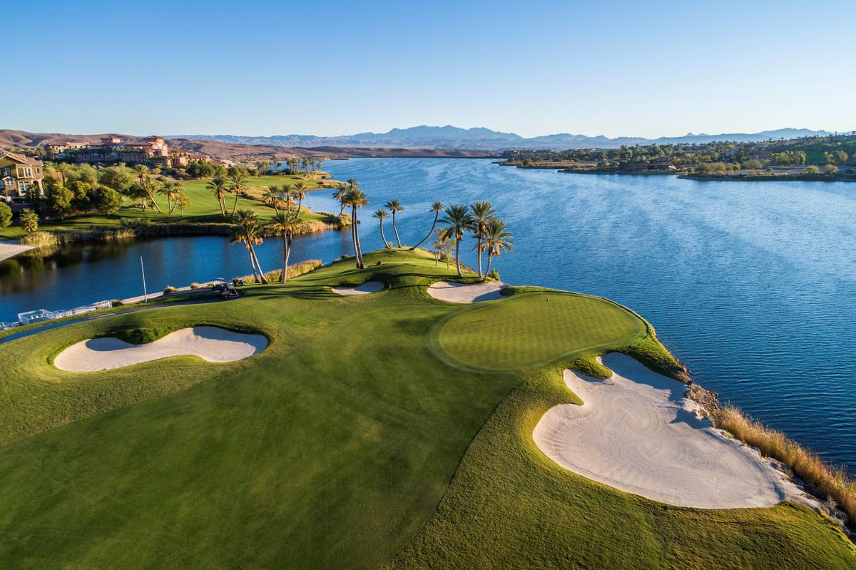 Reflection Bay Golf Club at Lake Las Vegas is one of the many amenities of the Henderson master ...