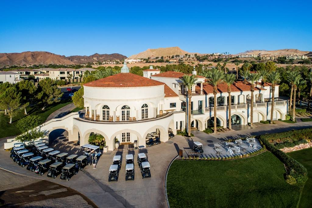 Reflection Bay Golf Club is one of the social hubs of the Lake Las Vegas master-planned communi ...