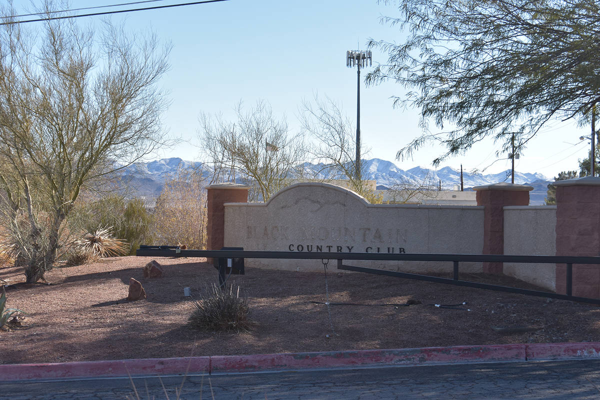 The Black Mountain Golf Course & Country Club entrance. (Las Vegas Review-Journal file photo)