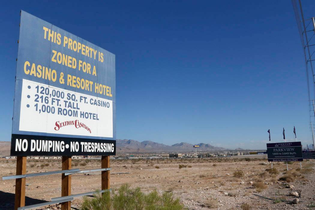 A vacant land photographed on Friday, Aug. 18, 2017, where Station Casino plans to build Resort ...