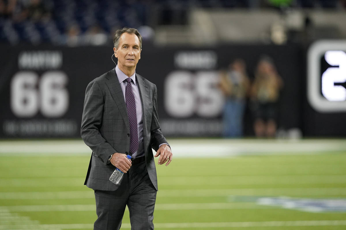 Sport broadcaster Cris Collinsworth before an NFL football game between the Houston Texans and ...