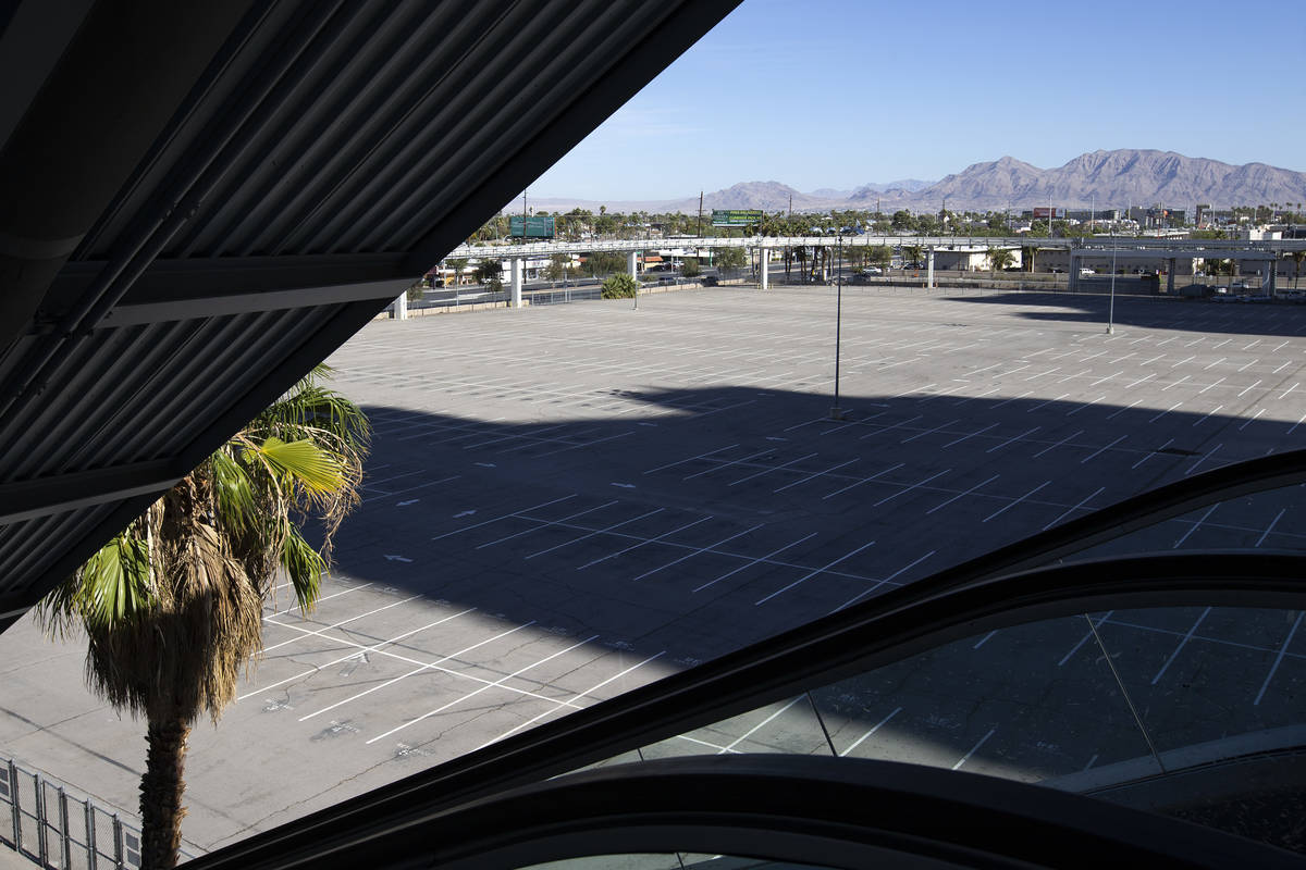 A parking lot near the intersection of Sahara Avenue and Paradise road, owned by the World Budd ...