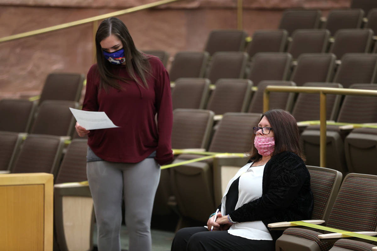 Tasha Baxter, left, with her mother Lisa, attend the fact finding review in the death of her br ...
