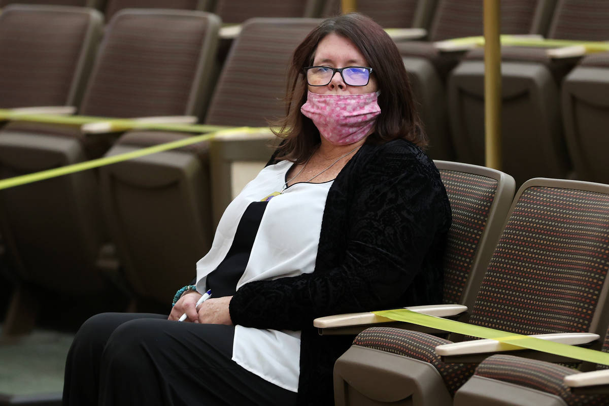 Lisa Baxter attends the fact finding review in the death of her son David Baxter, who died in p ...