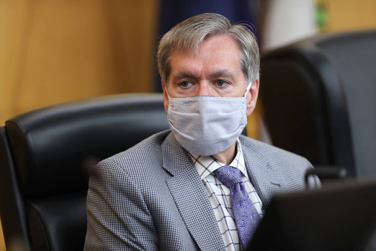 Hearing Officer Spencer Judd participates during the fact finding review in the death of David ...