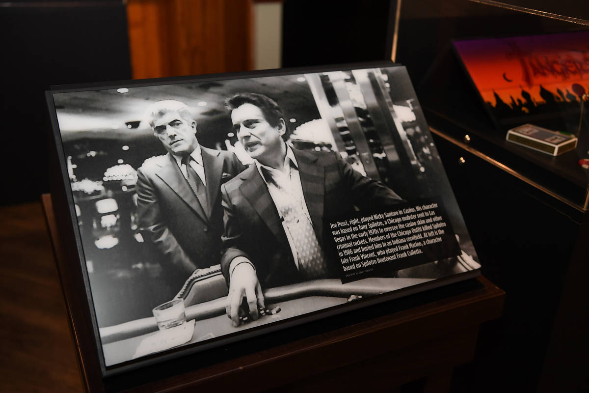 """A view of The Mob Museum's exhibit commemorating the 25th anniversary the film """"Casino"""" i ..."""