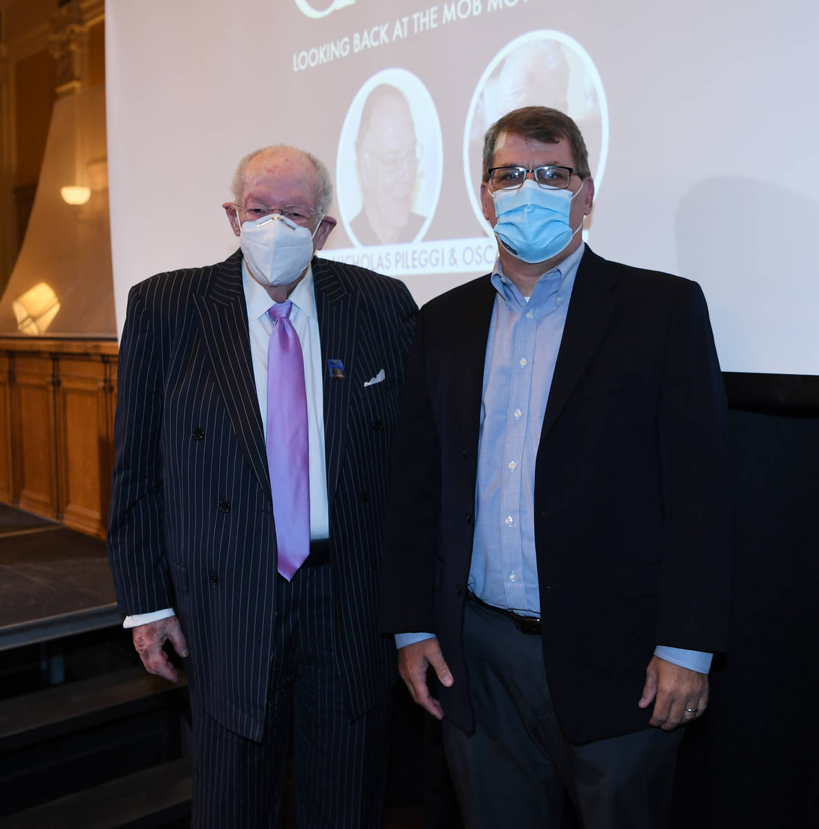 The Mob Museum Vice President of Exhibits and Programs Geoff Schumacher and ex-Las Vegas Mayor ...