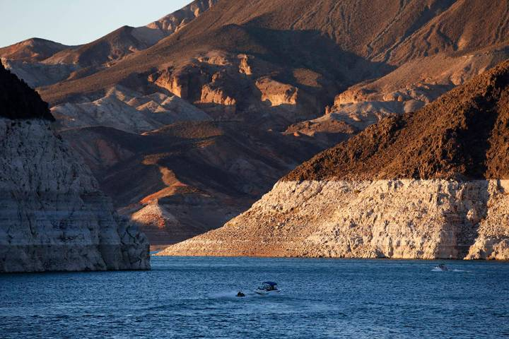 Winds may reach 50 mph on Lake Mead (shown) and Lake Mohave on Thursday, Nov. 26, 2020, and Fri ...