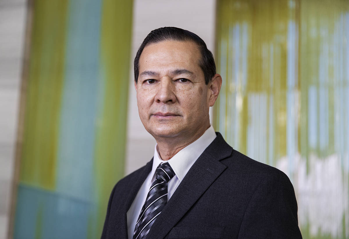 Las Vegas City Manager Jorge Cervantes on Wednesday, Nov. 18, 2020, at Las Vegas City Hall, in ...