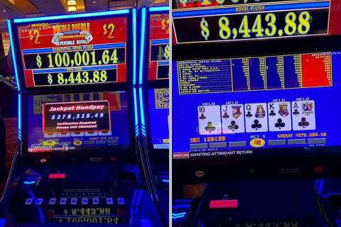 A Red Rock Resort guest hit a sequential royal flush for a $278,318 jackpot on Monday, Nov. 30, ...