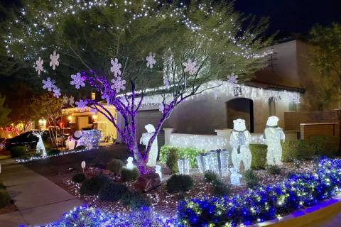 Cadence On Fortissimo Street, a family of polar bears lines the front yard of this year's to ...