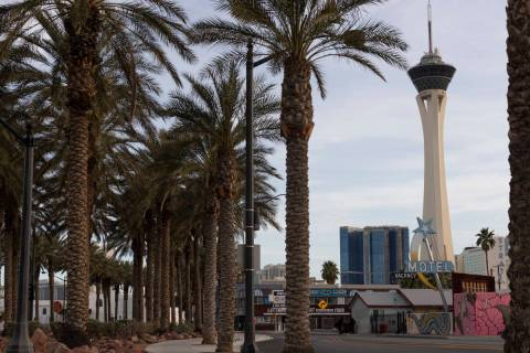 The Las Vegas high temperature is expected to be about 63 on Sunday, Dec. 20, 2020, according t ...