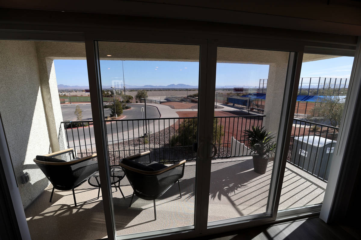 A model at Panorama housing development by Touchstone Living on North Hualapai Way near Gowan R ...