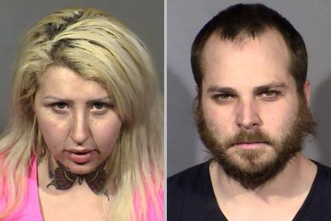 Brandi Krantz, left, and Timothy Martinelli. (Las Vegas Metropolitan Police Department)