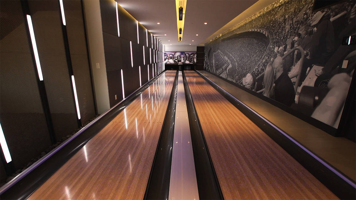 Forever Home Realty The estate has a commercial-style, two-lane bowling alley, movie theater, b ...