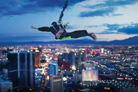 A contest winner will take The Strat's SkyJump at midnight Thursday night. (Golden Entertainment)