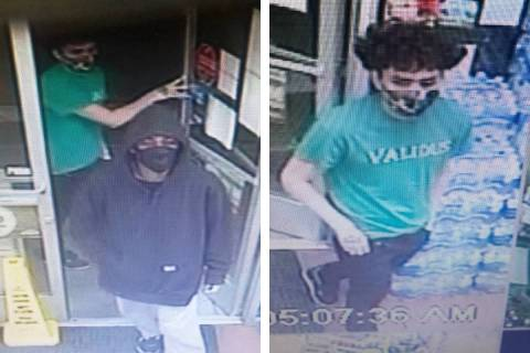 Police are seeking information on two men in connection to an armed robbery on Saturday, Dec. 1 ...