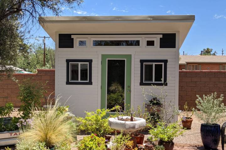 The style of the shed can be matched to the style of the home. (Tuff Shed)
