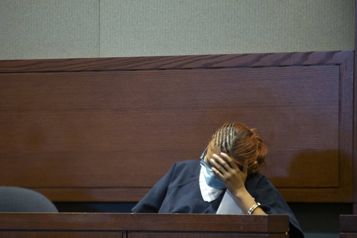 Jasmin Vargas appears in court for a hearing at the Regional Justice Center on Tuesday, Jan. 5, ...