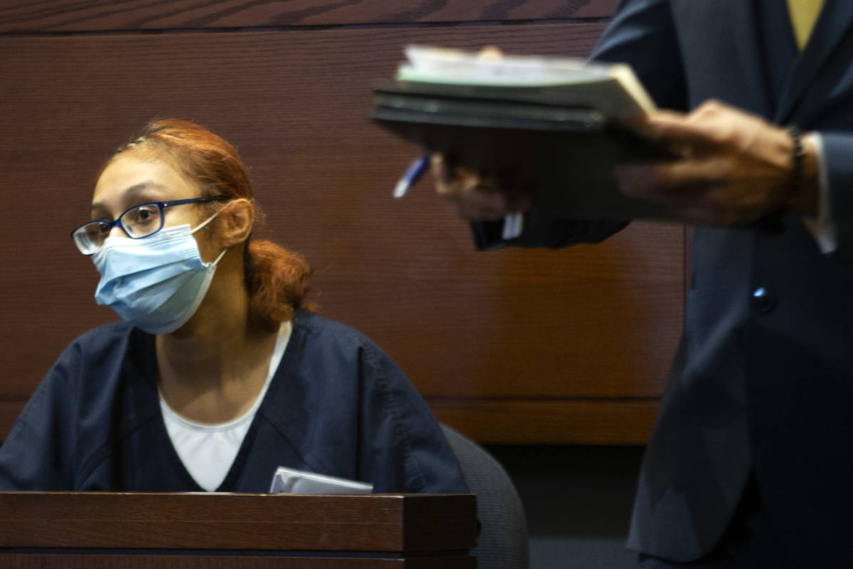 Jasmin Vargas appears at a court hearing at the Regional Justice Center on Tuesday, Jan. 5, 202 ...