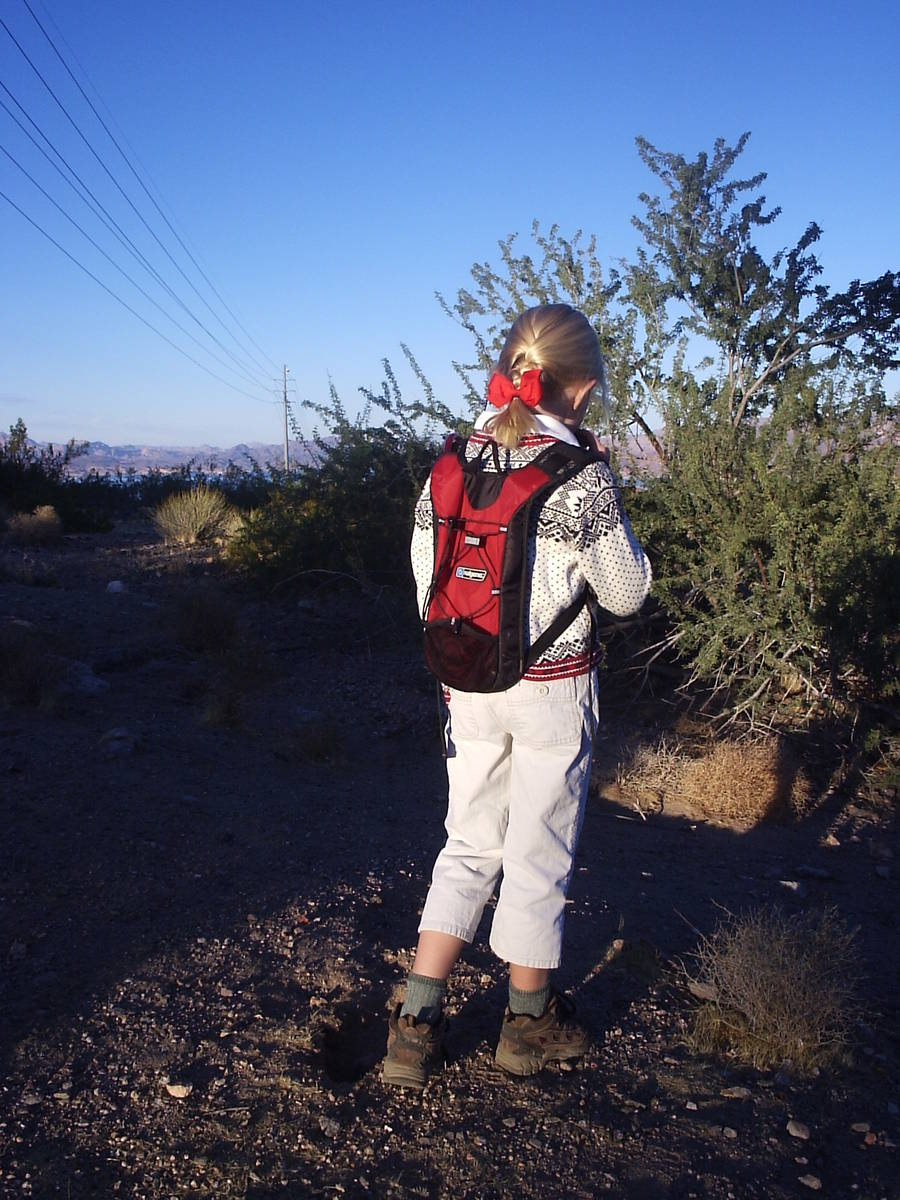 Every child who can hike on their own should have their own backpack with a hydration system. ( ...