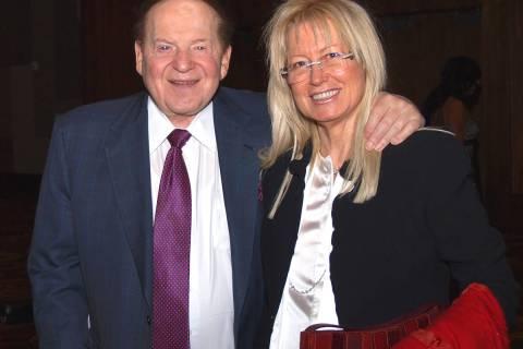 Las Vegas Sands Corp. Chairman and CEO Sheldon Adelson and his wife, Dr. Miriam Adelson. Sheldo ...