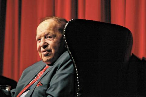 Las Vegas Sands Corporation Chairman Sheldon Adelson. (Las Vegas Review-Journal file)