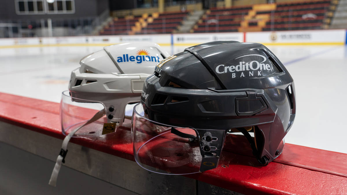 The Knights will wear Credit One Bank helmet decals on their helmets during home games this sea ...