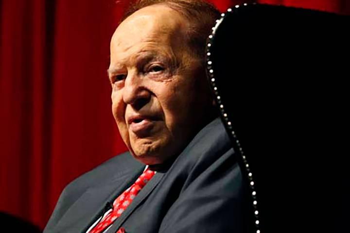 Las Vegas Sands Corporation Chairman Sheldon Adelson. (Las Vegas Review-Journal file)