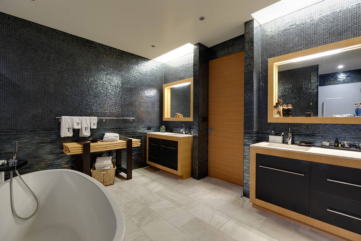 One of 2.5 baths in the Waldorf Astoria penthouse. (BHHS Nevada)