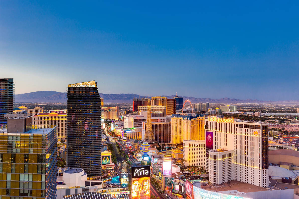 The Waldorf Astoria penthouse has views of the North Las Vegas Strip and panoramic views of the ...