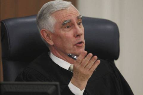 District Judge James Todd Russell speaks in his court in Carson City, Nev. Thursday, May 19, 20 ...