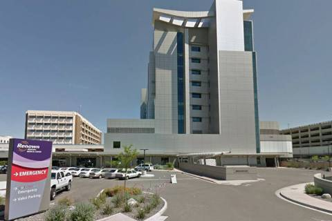 Renown Regional Medical Center in Reno. (Courtesy Google Street View)