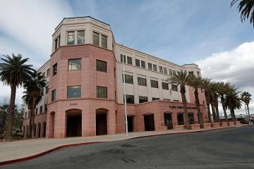 Clark County School District Administrative Center is seen in Las Vegas, Saturday, March 14, 20 ...