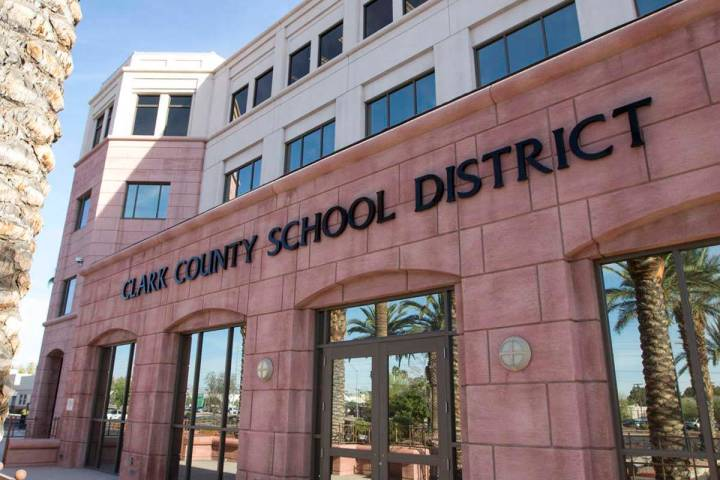 Clark County School District administration building at 5100 W. Sahara Ave. in Las Vegas (Las V ...