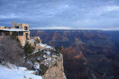Kolb Studio sits directly on the rim of the Grand Canyon.(Deborah Wall Las Vegas Review-Journal)