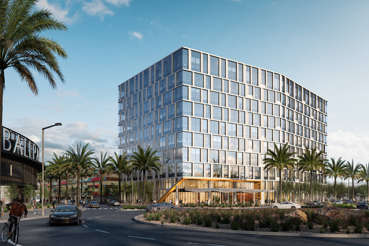 Summerlin developer Howard Hughes Corp. plans to build a 10-story office building, a rendering ...