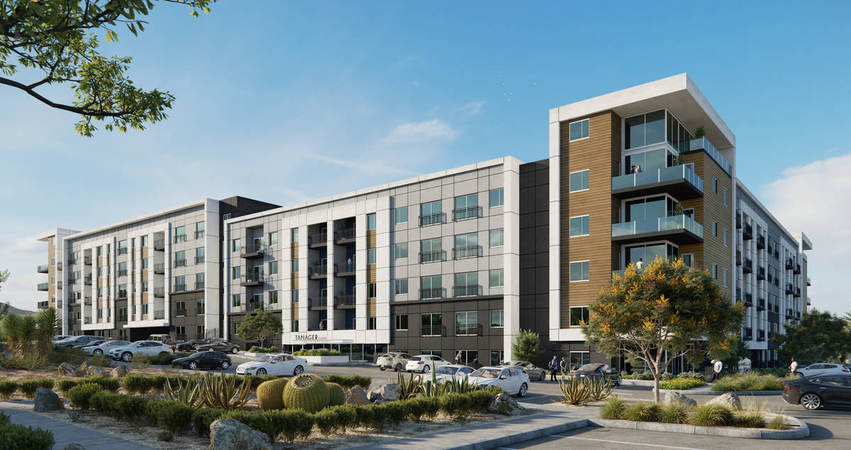 Developer Howard Hughes Corp. plans to build a 295-unit apartment complex, a rendering of which ...