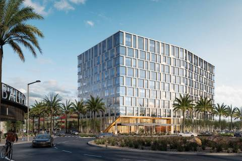 This artist's rendering shows what the new Class-A office building, 1700 Pavilion, in Downtown ...