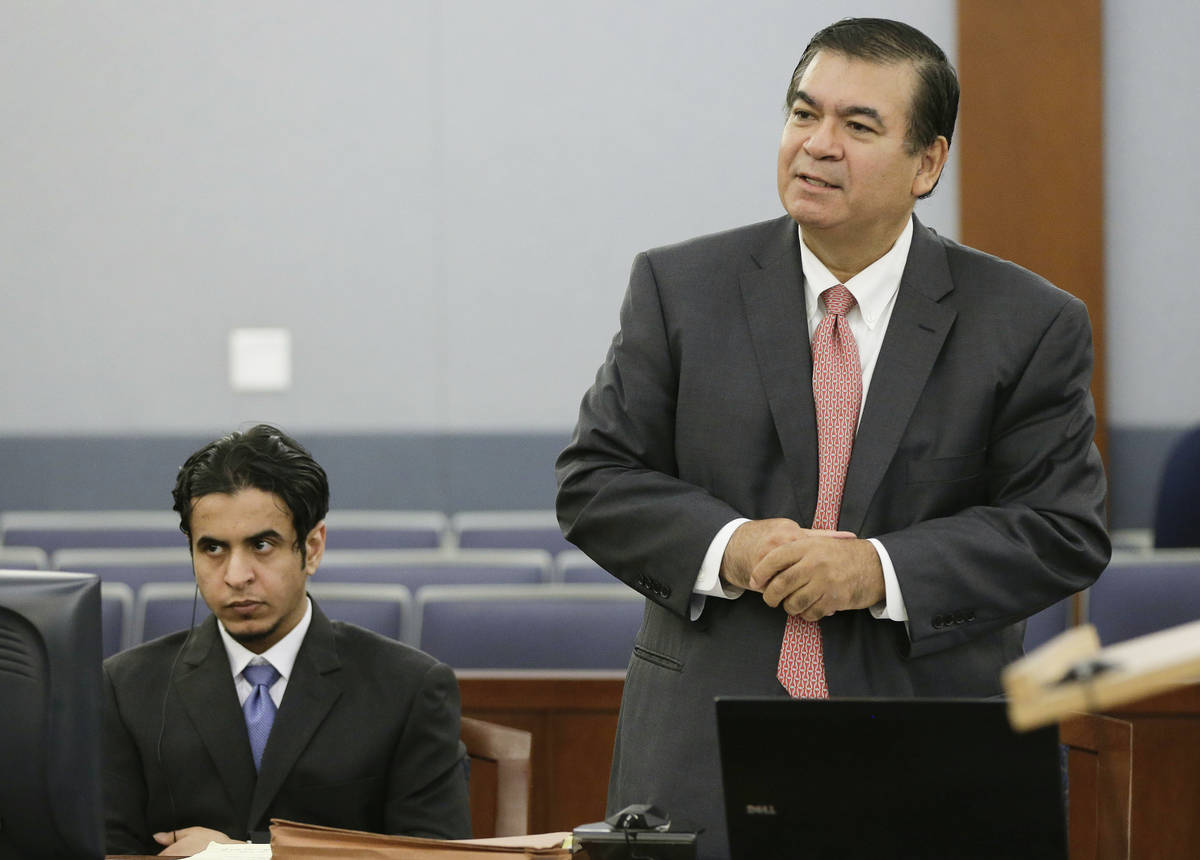 Defense attorney Don Chairez addresses the judge during the jury selection process for the sexu ...