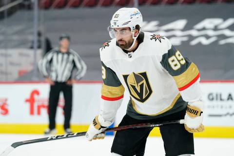 Vegas Golden Knights right wing Alex Tuch (89) in the second period during an NHL hockey game a ...