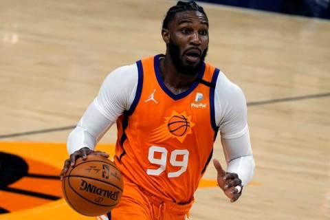 Phoenix Suns forward Jae Crowder (99) during the first half of an NBA basketball game against t ...