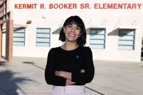 Juliana Urtubey, a learning strategist at Booker Sr. Innovative Elementary School, on Nov. 13, ...