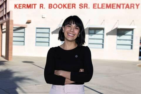 Juliana Urtubey, a learning strategist at Booker Sr. Innovative Elementary School, on Nov. 13, ...