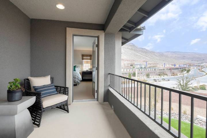 Jade Ridge by Taylor Morrison is one of four neighborhoods in The Cliffs village at Summerlin w ...