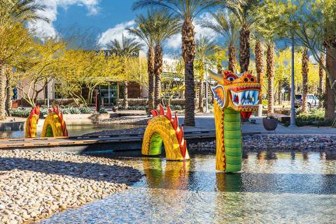 Downtown Summerlin will mark the Lunar New Year, The Year of the Ox, with decorations, such as ...